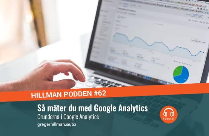 Bild på Google Analytics dashboard